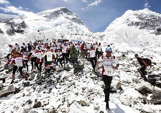 embarazada gana el maraton del Everest