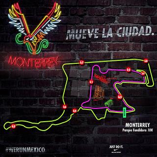 ruta nike we run monterrey 2013