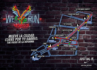 Ruta carrera nike we run mexico DF 2013
