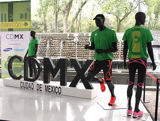 medalla y playera del maraton de la ciudad de mexico 2014