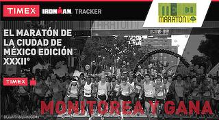 timex app maraton de la ciudad de mexico 2014