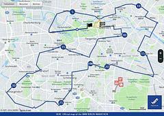 Ruta oficial del BMW Berlin-Marathon