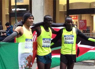 Juan Luis Barrios tercero en NYC Half Marathon