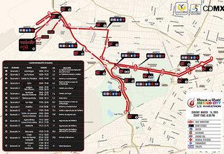 ruta medio maraton rock n roll mexico df 21K