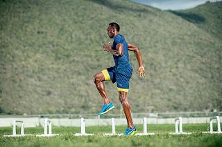 usain bolt training zapatos ignite XT entrenamiento