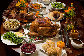cena thanksgiving running navidad calorias
