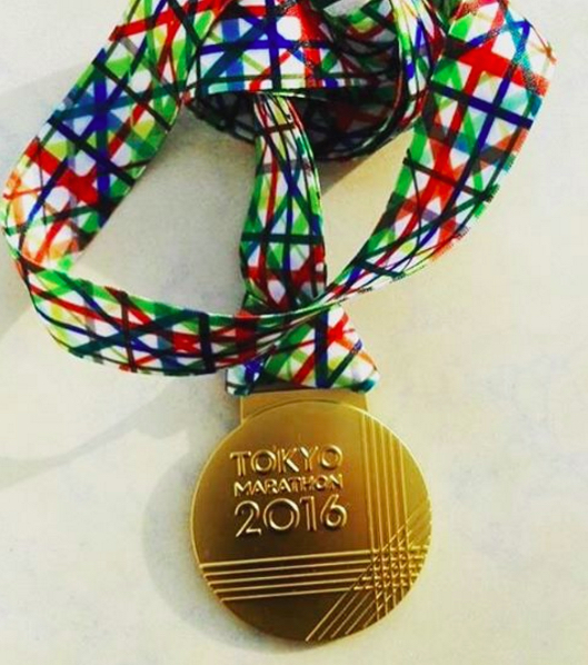 medalla maraton de tokio