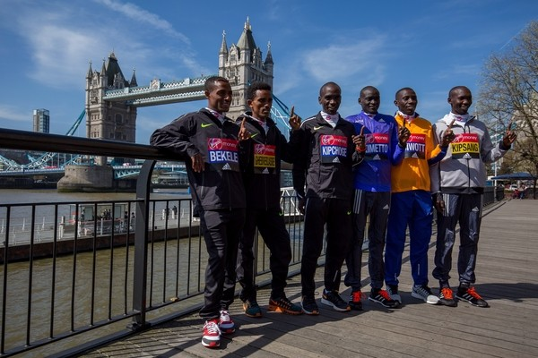 atletas elite maraton de londres 2016