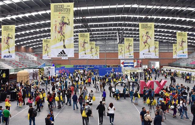 expo 21k cdmx medio maraton ciudad de mexico entrega de paquetes