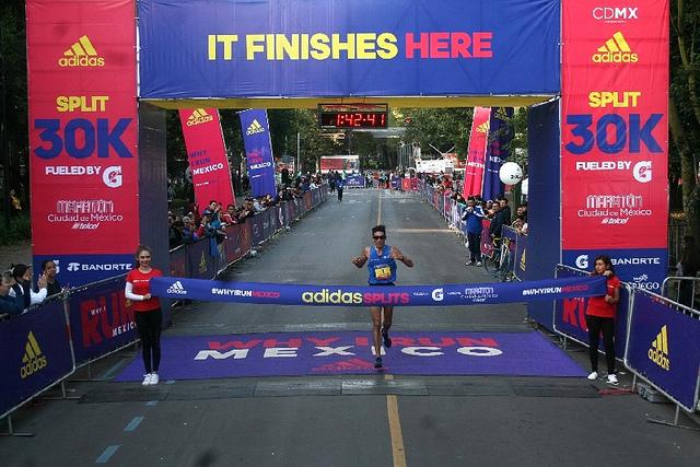 split adidas 30K resultados 2017 maraton ciudad de mexico