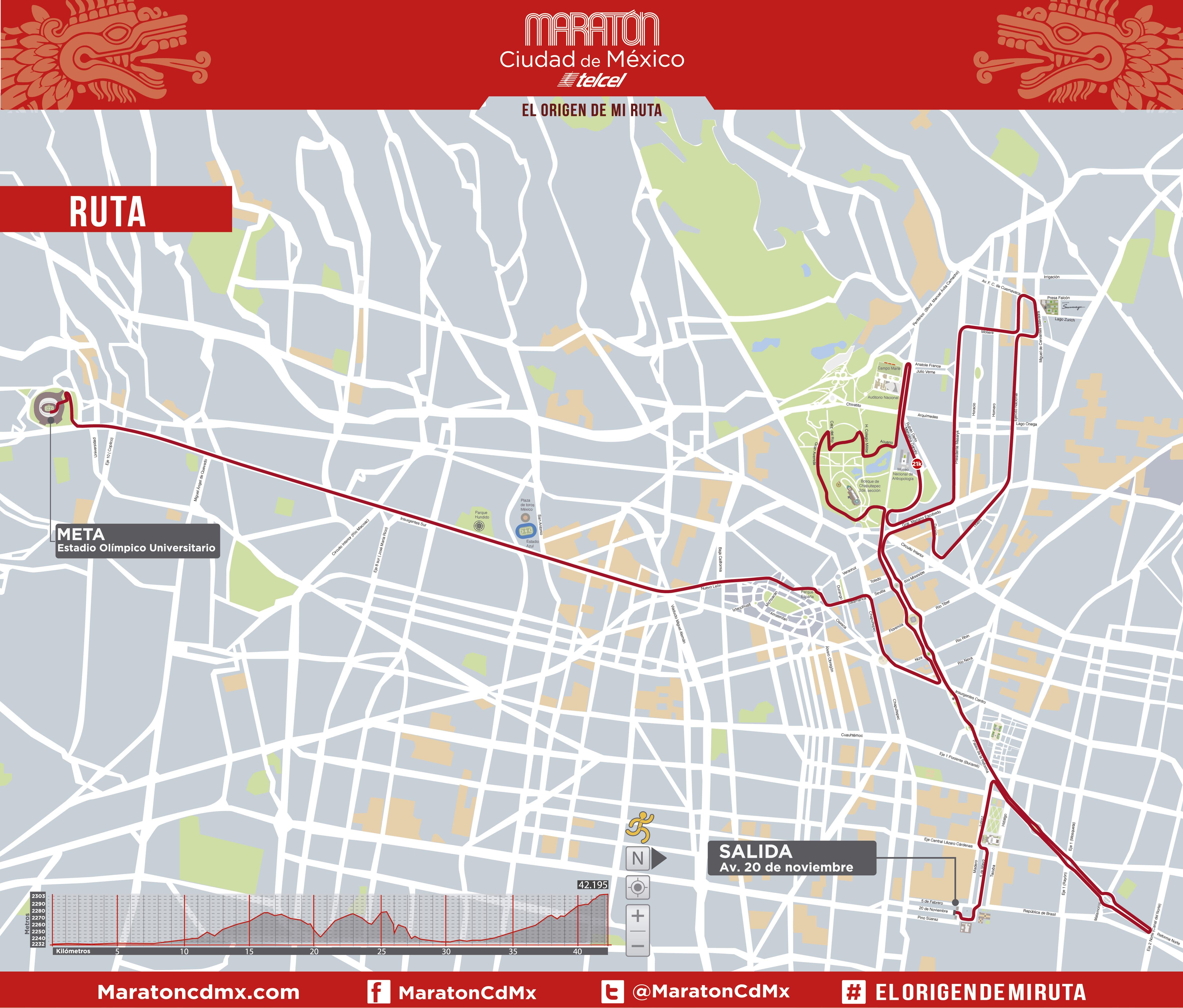 ruta del maraton de la ciudad de méxico 2017 cambios maratoncdmx