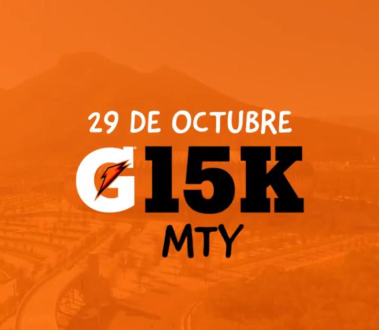 carrera gatorade G15K Monterrey inscripciones ruta
