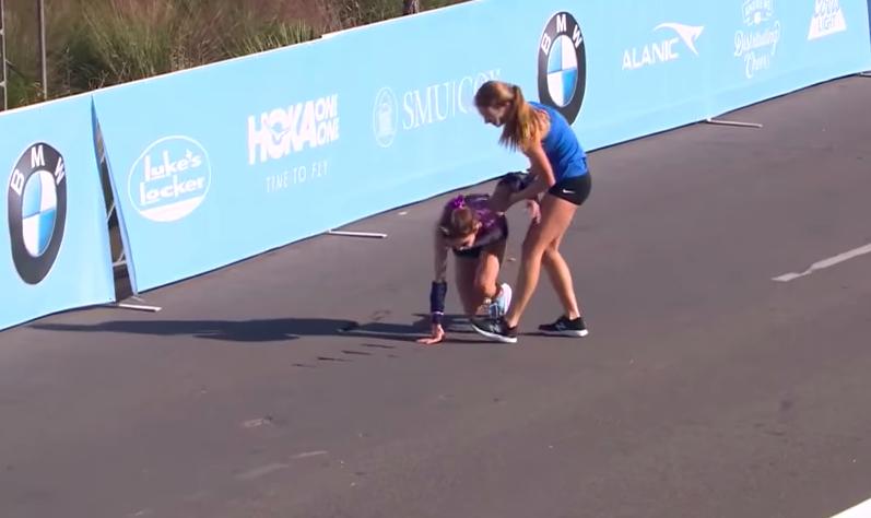 final maraton dallas corredora video