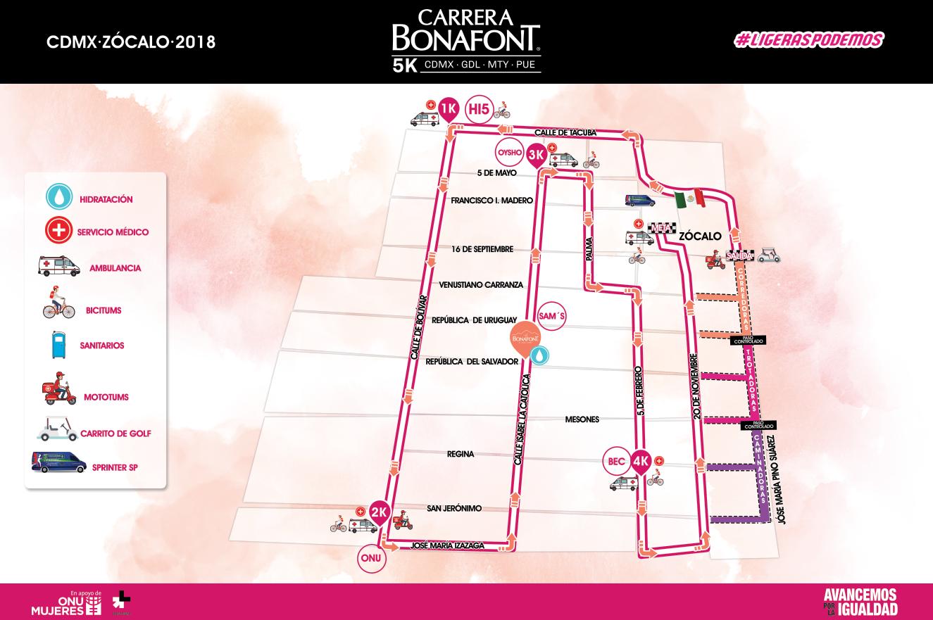 ruta Carrera Bonafont 2018 cdmx