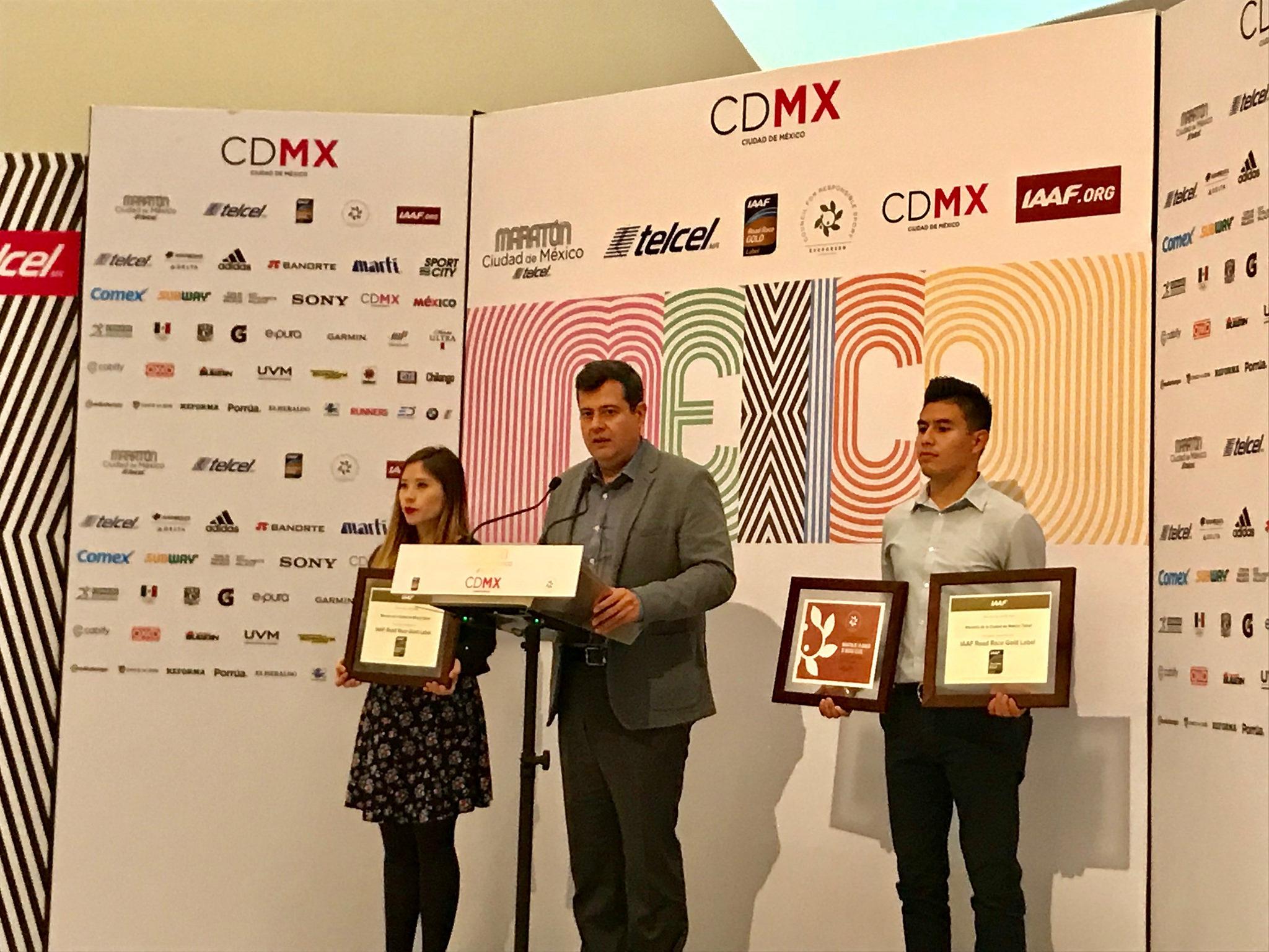 maraton cdmx etiqueta oro iaaf