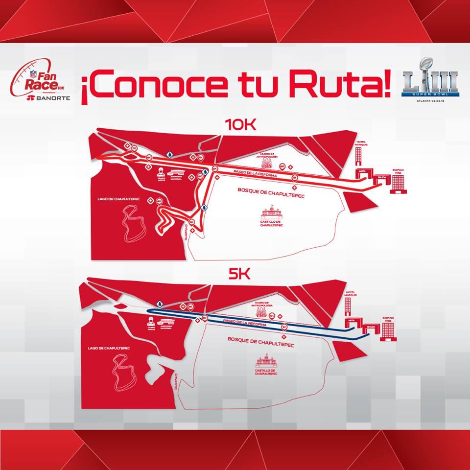 ruta carrera nfl race cdmx