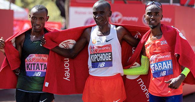 eliud kipchoge mo farah maraton londres 2019
