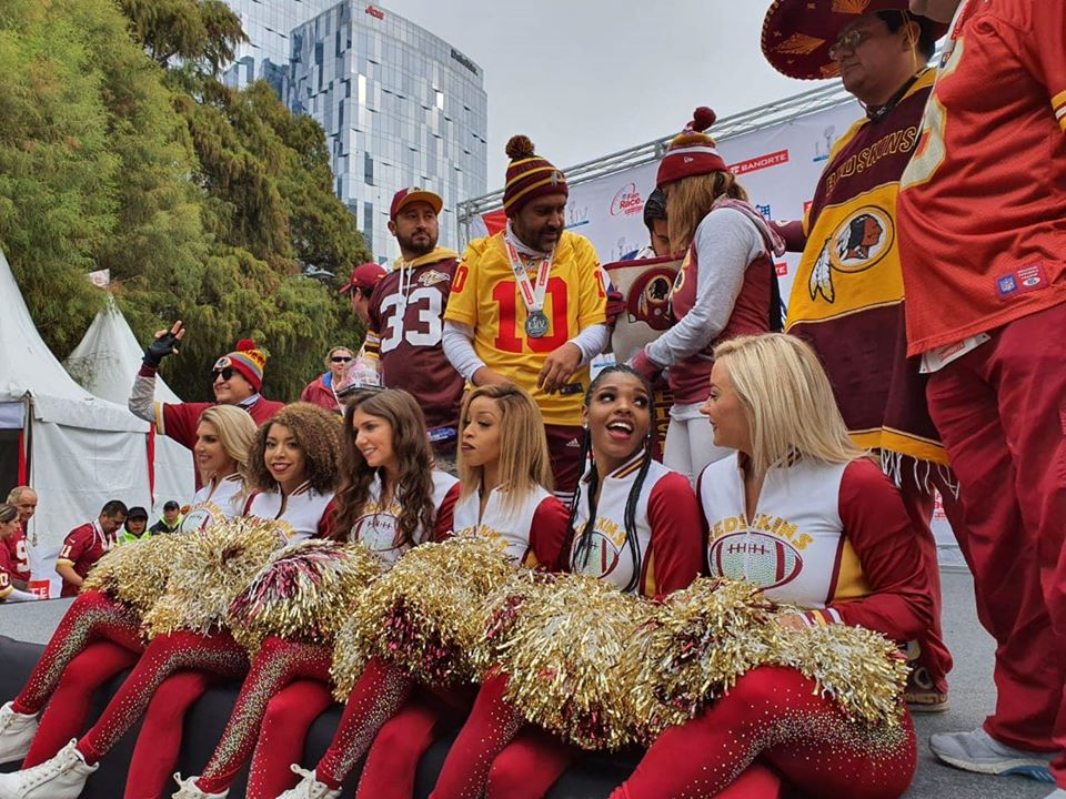 cheerleaders nfl fan race 2020